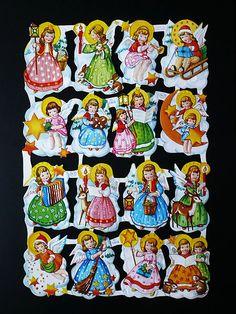 . Christmas Decals, Christmas Images, Vintage Girls, Vintage Children, Decoupage, Die Cut, Vintage Paper Dolls, Printable Designs, Old Postcards