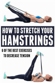 Stretches For Tight Hamstrings, Hamstring Muscles, Hamstring Workout, Squat Workout, Hamstring Stretches, Waist Workout, Hamstring Exercises For Women, Workout Gear, Workout Fun