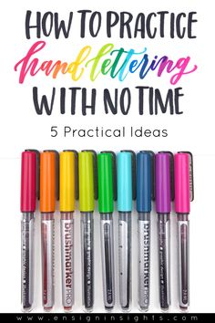 How to Practice Hand Lettering With No Time: 5 Practical Ideas Hand lettering is an amazing skill that takes a lot of practice. Hand Lettering For Beginners, Calligraphy For Beginners, Hand Lettering Practice, Hand Lettering Alphabet, Hand Lettering Tutorial, Learn Calligraphy, Calligraphy Letters, Calligraphy Lessons, Creative Lettering