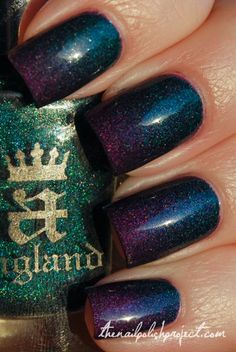 A England Saint George and Color Club Wild At Heart (1) Reminds me of Galaxy nails