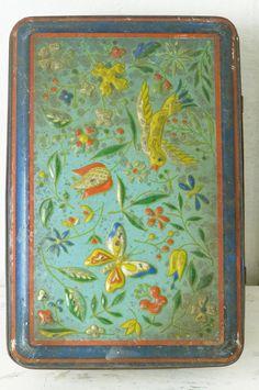 French vintage tin box