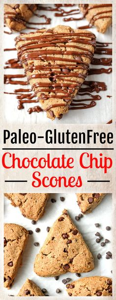 These Paleo Chocolate Chip Scones are easy to make and great with a cup of coffee. A fun treat that is gluten free, dairy free, and naturally sweetened. A few years ago I asked my Healthy Recipes, Healthy Dishes, Real Food Recipes, Whole30 Recipes, Cookbook Recipes, Healthy Desserts, Free Recipes, Scones, Paleo Chocolate Chips