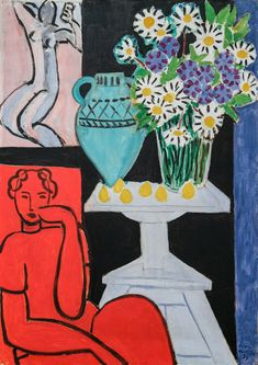 The Daisies - Matisse, Henri (French, 1869 - Fine Art Reproductions, Oil Painting Reproductions - Art for Sale at Galerie Dada Henri Matisse, Matisse Kunst, Matisse Art, Matisse Tattoo, Matisse Drawing, Art Inspo, Kunst Inspo, Art And Illustration, Matisse Pinturas