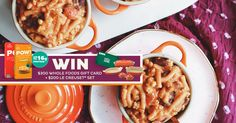 Enter to win a $300 Whole Foods gift card, a Le Creuset Stoneware 8-piece Bakeware Set from Williams-Sonoma, and our protein-packed POW! Pasta to make delicious and nutritious meals in a snap!