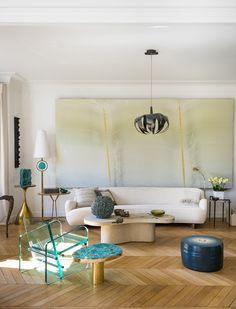 Variations sur la serenite dans l'appartement parisien du décorateur libanais