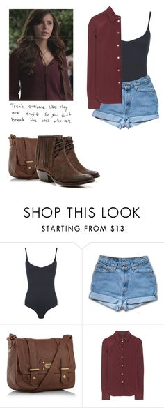 """""""Elena Gilbert - tvd / the vampire diaries"""" by shadyannon ❤ liked on Polyvore featuring WearAll, kangol, Marc Jacobs and Frye"""