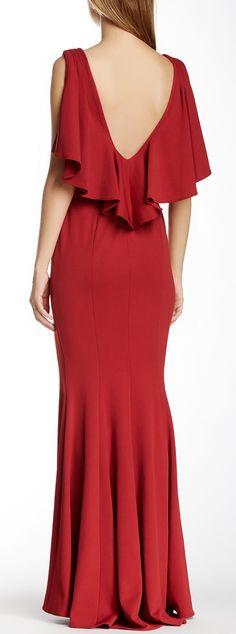 Crimson gown