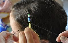 Hair wrapping patterns