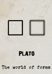 Plato's love of geometry exemplified well his world of forms.