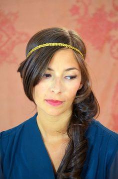 Headband Thelma PM jaune curry  Les Dormeuses de Madapolam
