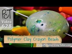 Video:  How To Make Polymer Clay Crayon Beads  #Polymer #Clay #Tutorials