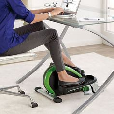 Exercise while you work. Stamina Elliptical Trainer will keep your shape while you are sitting at the table. Which woman does not like that?