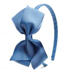 Big bow hairband - Dusty blue