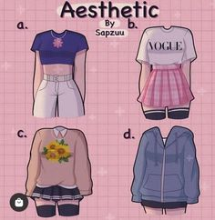 Teen Fashion Outfits, Anime Outfits, Mode Outfits, Cute Casual Outfits, Pretty Outfits, Kleidung Design, Mode Kpop, Drawing Anime Clothes, Clothing Sketches