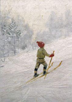 Skiing Boy