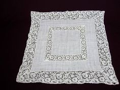Your place to buy and sell all things handmade Vintage Handkerchiefs, Vintage Items, Vintage Linen, Birthday Gifts For Her, Fashion Books, White Lace, Wedding Gifts, Cotton Fabric, Etsy Shop