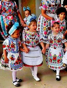 Polish Embroidery, Hungarian Embroidery, Hand Embroidery Patterns, Embroidery Art, Machine Embroidery Designs, Folk Fashion, Tribal Fashion, Folk Costume, Costumes