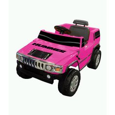The Hummer H2 is an awesome ride on that is officially licensed by Hummer! Every child will love cruising around in it. The Hummer H2 can go forward and in reverse and has a working horn. 6 Volt battery and charger are included.
