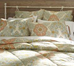 Giselle Reversible Comforter & Sham - Warm | Pottery Barn