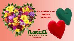 Foto de #DiseñoFloral de Corazón #Floricel @espumafloral,siempre la solución para el florista! #SanValentin