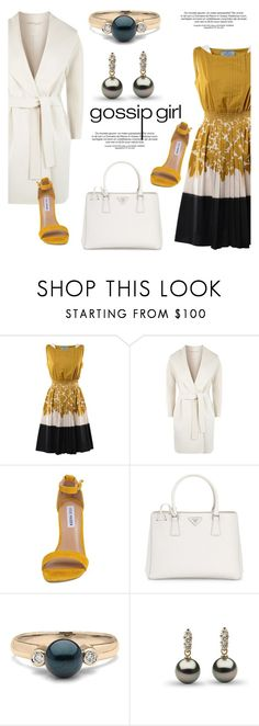 """""""Gossip girl"""" by pearlparadise ❤ liked on Polyvore featuring Prada, MaxMara and Steve Madden"""