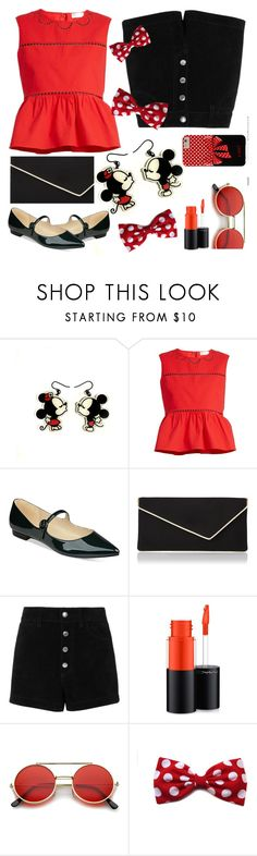 """""""Disney: black/white/red"""" by petalp ❤ liked on Polyvore featuring RED Valentino, Marc Fisher, L.K.Bennett, rag & bone/JEAN, MAC Cosmetics and ZeroUV"""