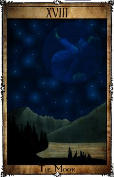 Bowie Tarot Collection - XVIII - The Moon by Triever on DeviantArt
