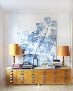 Splendid Avenue: Lovely Scandinavian Design — Swedish Wall Decor, Blue Geranium by Emma Sjodin Decoration Inspiration, Interior Inspiration, Design Inspiration, Design Ideas, Decor Ideas, Vase Ideas, Interior Ideas, Modern Interior, Blue Geranium