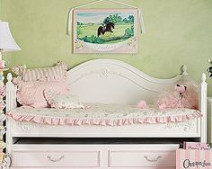 Shabby Posh Rose Daybed Bedding and Nursery Kid Sets in Bedding Sofa Daybed, Daybed Bedding, Girl Bedding, Home Bedroom, Girls Bedroom, Bedrooms, Girls Daybed, Daybed Covers, Childrens Beds