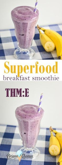 Superfood Breakfast Smoothie - with a healthy dose of okra!  THM:E, low fat, sugar free, gluten/egg free with nut free suggestion