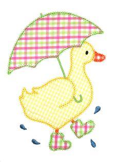Duck Machine Applique Design by AppliqueChick on Etsy