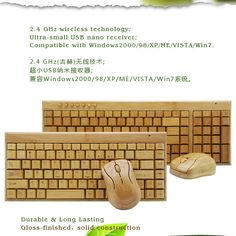 Fashionable Keyboard and Mouse Make in China with Engraved logo