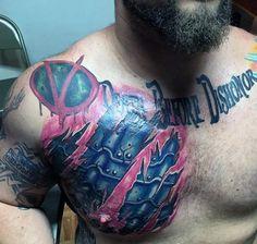 Top 90 Best Armor Tattoo Designs For Men - Walking Fortress Armor Sleeve Tattoo, Armour Tattoo, Shoulder Armor Tattoo, Body Armor Tattoo, Full Sleeve Tattoos, Schulterpanzer Tattoo, Norse Tattoo, Hand Tattoos, Samoan Tattoo