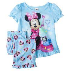 Disney® Minnie Mouse Toddler Girls' 2-Piece Short-Sleeve Pajama Set