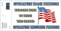 OIF OEF WELCOME HOME DECAL OIF OEF WELCOME HOME DECAL [EC-18095] - $5.00 : Hat n Patch, Military Hats, Patches, Pins and more
