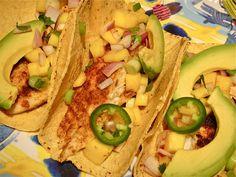 Cumin spiced fish tacos