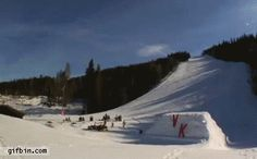 Amazing Snowboard Jump