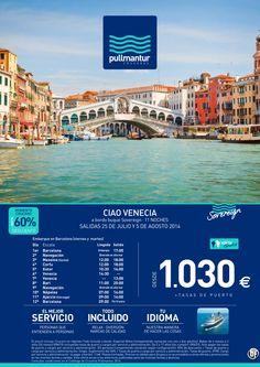 Crucero Ciao Venecia 2014 - 11 noches - Pullmantur TI desde 1.030€ - http://zocotours.com/crucero-ciao-venecia-2014-11-noches-pullmantur-ti-desde-1-030e/