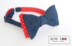 Fliege/Bow tie Jeans/beidseitig von BOW TIME auf DaWanda.com