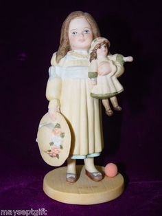 "$15.99 + free shipping.  Jan Hagara Victorian Dressed Child Figurine ""Erin"" Girl With Doll"