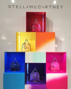 WEBSTA @ saks_handbags - Complete your look with a pop of color from Stella McCartney's Rainbow Pop Falabella Collection!