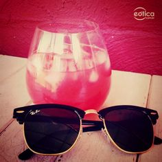 Óculos de sol Ray-Ban clubmaster + Drinks #summer #hot #oculosdesol #sunglass #rayban #clubmaster
