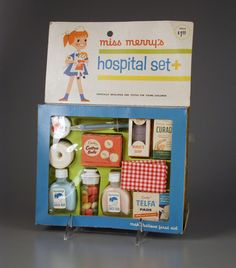 Vintage Hospital Play Set - I loved toys like this as a kid!