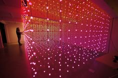 Submergence by Squidsoup.  I have a such a thing for LED light art.  It must have started with my love for Dan Flavin...