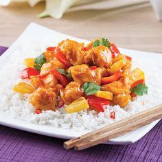Dégustez un délicieux poulet Général Tao dans le confort de votre maison. La belle vie! Attention, il s'agit d'une version olé olé!