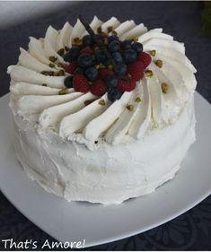 Decorazione panna per torta bicolore