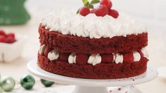 Sweet Recipes, Cake Recipes, Black Forest Cheesecake, Red Velvet Cake, Cakes And More, Food Cakes, Food To Make, Cake Decorating, Bakery
