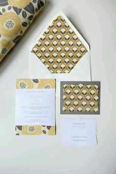Contemporary stationery design