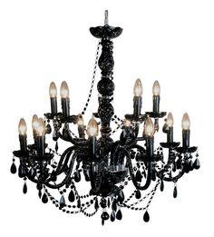 luxury black chandelier design new - Paulinas Designs