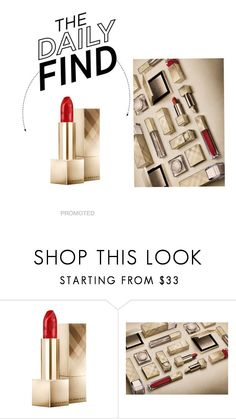 """""""Daily Find: Burberry Kisses Military Red"""" by polyvore-editorial ❤ liked on Polyvore featuring Belleza, Burberry y DailyFind"""